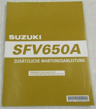 Suzuki SFV650A K9 Ergänzung Werkstatthandbuch Wartung Reparaturanleitung 2009