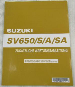 Suzuki SV650 S A SA K7 Nachtrag Werkstatthandbuch Wartung Reparaturanleitung 06