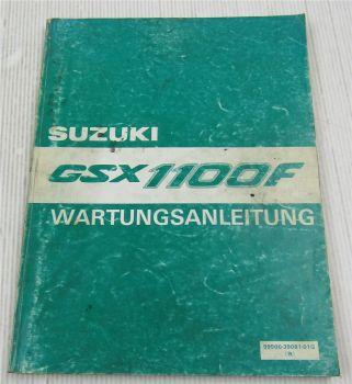 Suzuki GSX1100F Werkstatthandbuch Wartungshandbuch Reparaturanleitung 1987-89