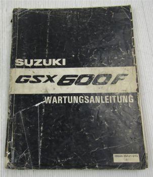 Suzuki GSX600F K Werkstatthandbuch Wartungshandbuch Reparaturanleitung von 1988