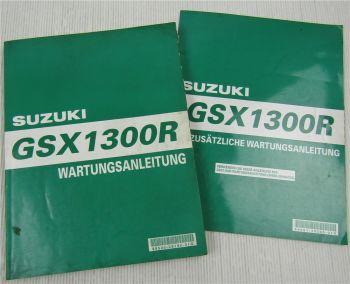 Suzuki GSX1300R RX RY HayabusaWerkstatthandbuch Wartung Reparatur 1999 +Nachtrag