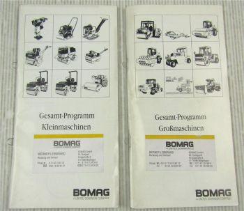 2x Bomag Prospekt Gesamtprogramm Großmaschinen und Kleinmaschinen 1996/1997
