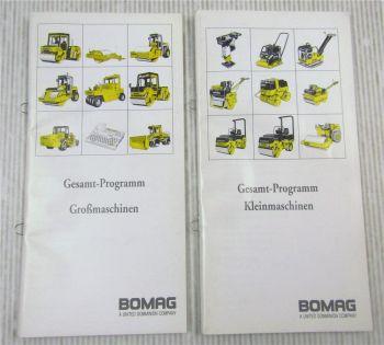 2x Bomag Prospekt Gesamtprogramm Großmaschinen und Kleinmaschinen 1995/1996
