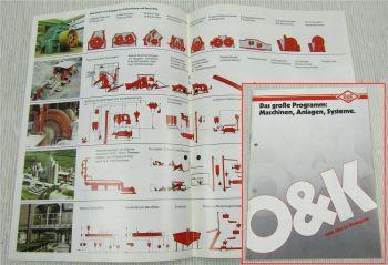 Prospekte O&K Das große Programm zu Maschinen Anlagen Systeme von 1989