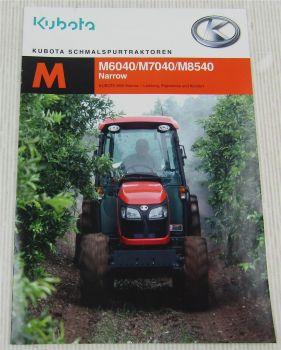 Prospekt Kubota Schmalspurtraktor M6040 M7040 M8540 Narrow von 8/2012