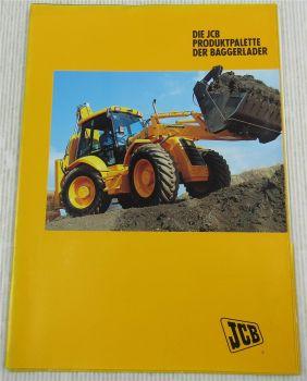 Prospekt JCB Produktpalette der Baggerlader 1CX 2CX 3CX Contractor 4CN super
