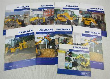 9 Prospekte Ahlmann AS50  AS70 AS90 AX70 AX100 Lader Teleskoplader von 2005-2008