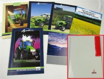 6 Prospekte Deutz Agrotron TTV Agrocompact Traktoren mit technischen Daten + CD