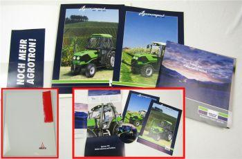 3 Prospekte Deutz Agrocompact 60 70 80 90 V Traktoren + CD Agrotron TTV