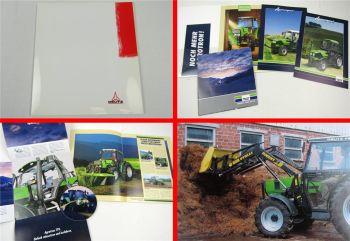 4 Prospekte Deutz Agrocompact S 60 70 80 90 V F Traktoren + CD Agrotron TTV