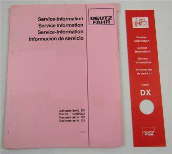 Deutz Registratur für Service Information Traktoren Serie DX + Ordnerrücken