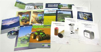 Deutz Mappe mit Prospekten CDs Agrotron K 215 265 Agrocompact 60 70 80 90 F V S