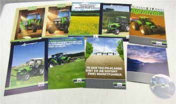 9 Prospekte und CD Deutz Agrocompact V/F S Agrotron 150 215 265 TTV Traktoren