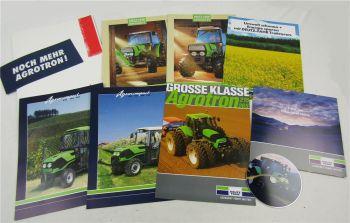 8 Prospekte und CD Deutz Agrocompact und V/F S Agrotron 215 265 TTV Traktoren