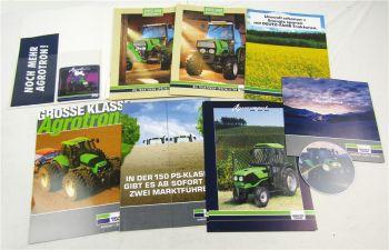 8 Prospekte mit CD Deutz Agrocompact und V/F S Agrotron 150 215 265 TTV Traktor