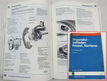 Reparaturleitfaden VW Passat B2 tetra syncro Santana Fahrwerk Achse Bremsen 1984