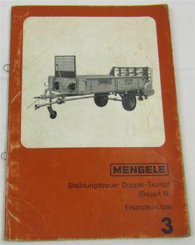 Mengele ES ZS 200 250  300 350 400 E HN AN N Ersatzteilliste Ersatzteilkatalog