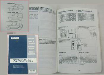 Suzuki Vitara Bedienungsanleitung Handleiding Manuel de l Utilisateur Manuale