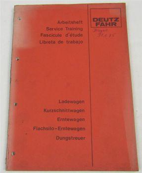 Deutz Wagen Kundendienstschule Service Training Werkstatthandbuch 1984