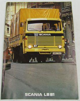 original Prospekt SCANIA LB81 LKW von 6/1977 mit technischen Daten