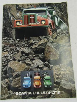 original Prospekt SCANIA L111 LS111 LT111 Lastwagen mit technischen Daten 5/1977