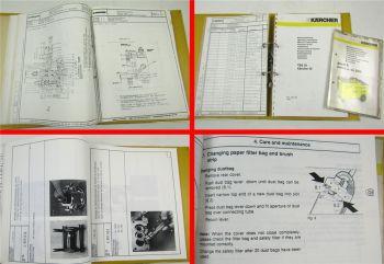 Kärcher Puzzi Profi + K / S + TBS35 und TBS42e Bedienung ETL + Katalog Wekzeuge
