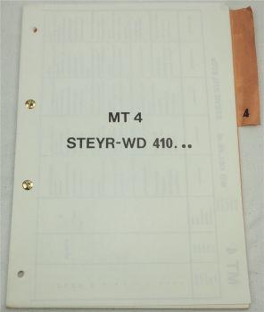 Steyr WD 410 Motoren für Schlepper 870 und 870a Ersatzteilliste Parts List 1975