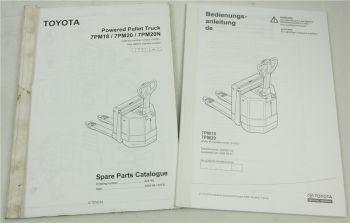 Toyota 7PM18 7PM20 Hubwagen Ersatzteilliste und Bedienungsanleitung 2005