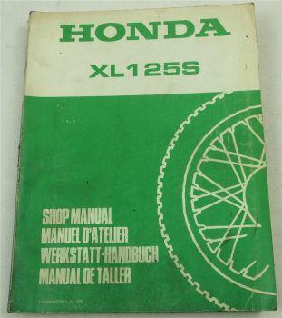 Honda XL125S Werkstatthandbuch Modell 125-1 Reparaturanleitung von 1978