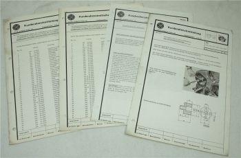 4x Steyr Kundendienstmitteilung Service Mitteilung zum Typ 650 von ca 1971