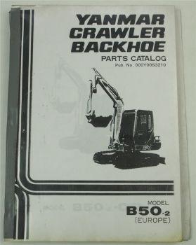 Yanmar B50-2 Crawler Backhoe Parts Catalog Ersatzteilliste in englisch 11/1992