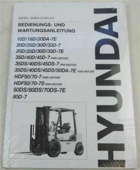 Hyundai 15 18 20 25 30 35 40 45 50 60 70 80 Diesel Stapler Bedienungsanleitung