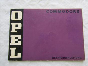Opel Commodore B Bedienungsanleitung Betriebsanleitung 2/1972