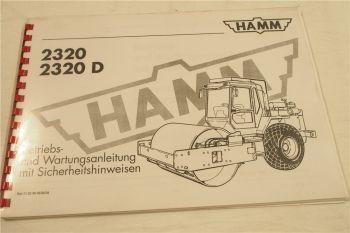 Hamm 2320 2320D Bedienungsanleitung Betriebsanleitung Wartung 6/1994