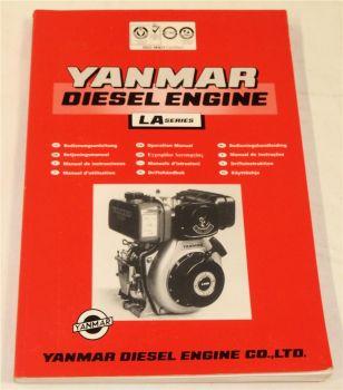Yanmar LA Serie Dieselmotor Bedienungsanleitung Operation Manual Bejeningsmanual