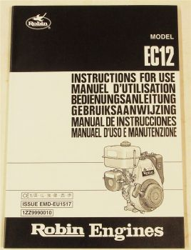 Robin EC12 Bedienungsanleitung Instructions for Use Manuael d uso 2000