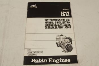 Robin EC12 Bedienungsanleitung Instructions for Use Manuael d utilisation 1999