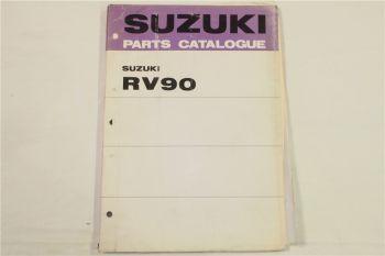 Suzuki RV90 J K L Motorcycles E1 Spare Parts Catalogue List ca 74 Ersatzteillist