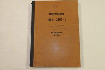Übersetzung US-Vorschrift TM9-3305-1 Artilleriegerät Waffen 11/1956