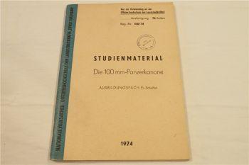 Studienmaterial zur 100 mm Panzerkanone von 1974 NVA DDR Offiziershochschule