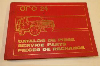 Aro 24 Ersatzteilliste Ersatzteilkatalog Parts List Pieces de rechange