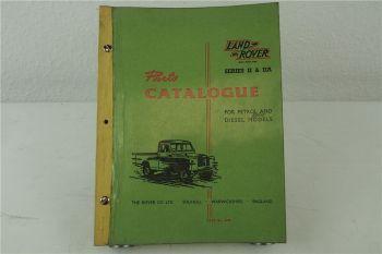 Landrover Land Rover 88 109 Series II IIA Parts Catalogue List Ersatzteilkatalog