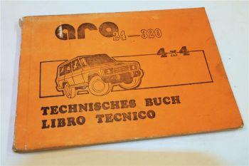 Aro 24 - 320 4x4 Technisches Handbuch Bedienungsanleitung Libro Tecnico 1988
