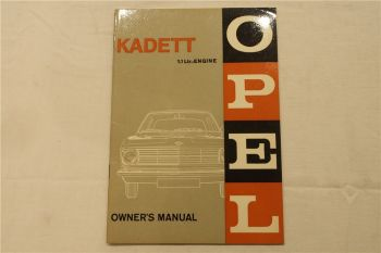 Opel Kadett B 1.1 ltr Engine Owners Instruction Manual 10/1965