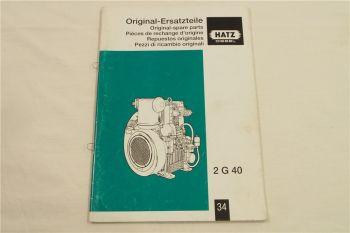 Hatz 2G40 Diesel Motor Ersatzteilliste Parts List Lista de recambios 6/2005