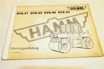 Hamm DV8.41 DV8.42 DV8.4K DV8.32  Wartungsanleitung Ergänzung zur Bedienungsanle