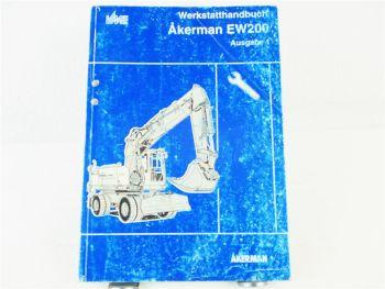 Akerman EW200 Werstatthandbuch Reparaturanleitung Ausgabe 1 wohl 1994