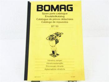 Bomag BT50 Stampfer Ersatzteilliste Parts List Pieces rechange 3/1997
