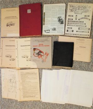Ausbildungsunterlagen Lehrmaterial KFZ Technik NVA DDR 1950 - 80er Jahre