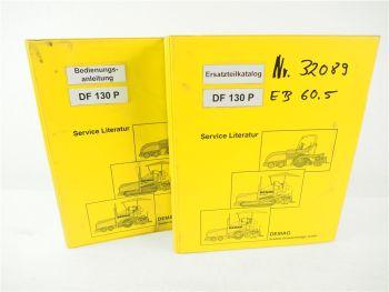 Demag DF130 P Bedienungsanleitung Ersatzteilkatalog Spare parts Catalogue 1997